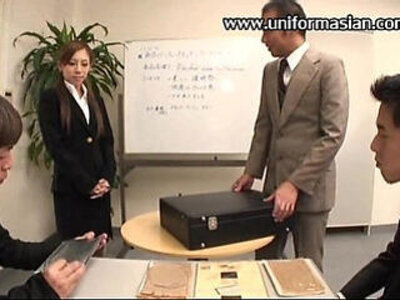 asian  office  old man  pantyhose   porn video