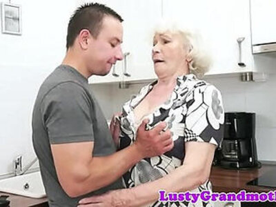 cum in mouth  granny  hairy   porn video