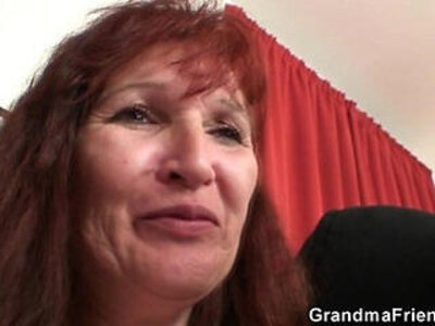 3some  grandma  older  striptease   porn video