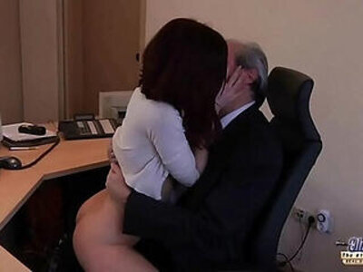 boss  cum  office  old and young   porn video